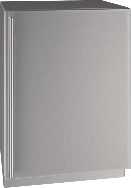 """U-Line® 24"""" Stainless Steel Compact Refrigerator-UHRE524-SS01A"""