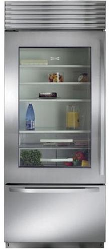 Sub-Zero 17.3 Cu. Ft. Built-In Bottom Freezer Refrigerator-Stainless Steel-BI30UGS