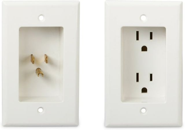 SnapAV WattBox® White PowerLink2™ with Duplex Wall Plates and 3 Ft Power Cord - Kit-WB-PowerLink2-WHT