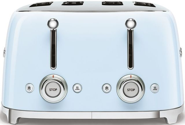 Smeg 50's Retro Style Aesthetic Pastel Blue 4x4 Slice Toaster-TSF03PBUS