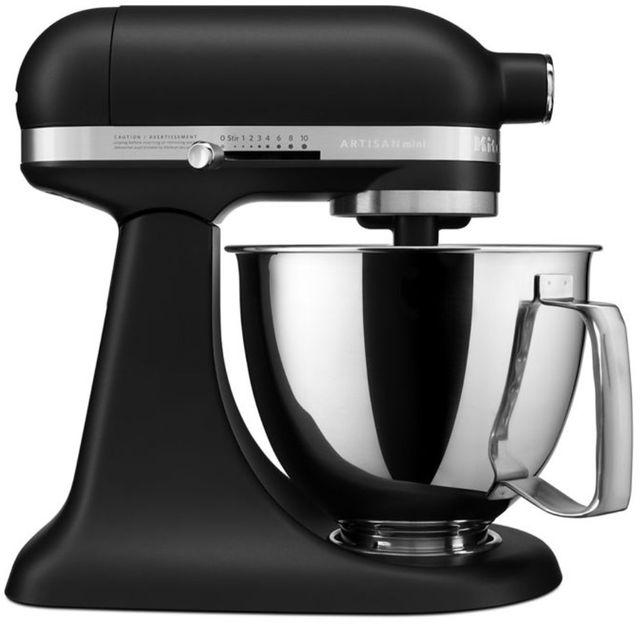 KitchenAid® Artisan® Mini Black Matte 3.5 Quart Stand Mixer-KSM3316XBM