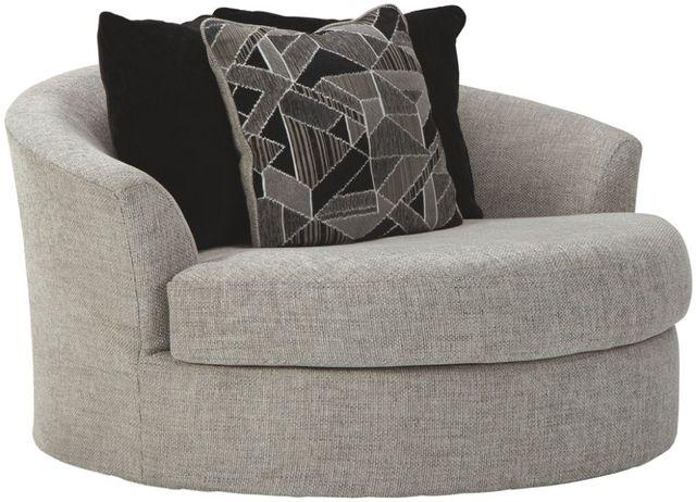 Benchcraft® Megginson Storm Oversized Round Swivel Chair-9600621