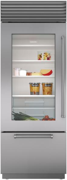 Sub-Zero® 17.3 Cu. Ft. Stainless Steel Built In Bottom Freezer Refrigerator-BI-30UG/S/PH-LH