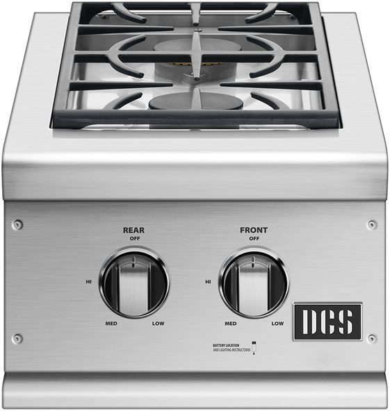 "DCS 14.56"" Brushed Stainless Steel Double Side Burner-BGC132-BI-L"