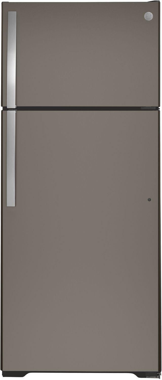GE® 17.5 Cu. Ft. Slate Top Freezer Refrigerator-GTS18HMNRES