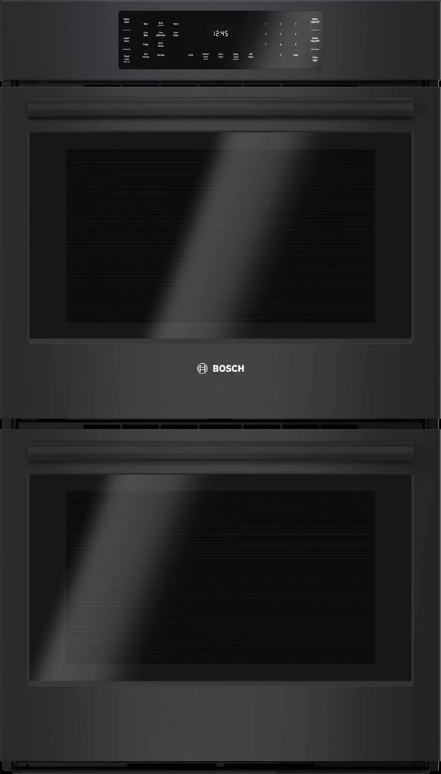 """Bosch 800 Series 30"""" Electric Double Oven Built In-Black-HBL8661UC"""