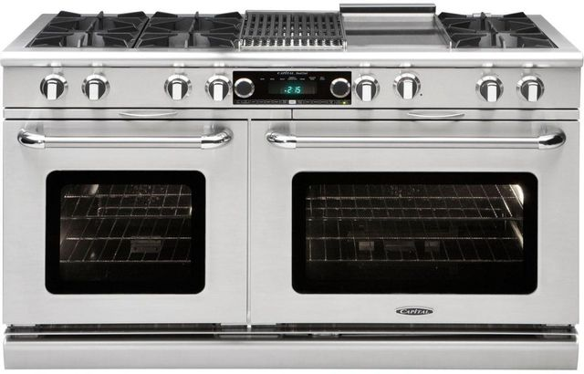 """Capital Connoisseurian 60"""" Stainless Steel Free Standing Dual Fuel Range-COB604BG2L"""