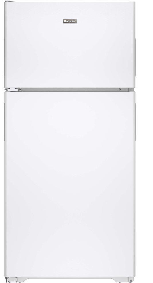 Hotpoint® 14.58 Cu. Ft. White Top Freezer Refrigerator-HPS15BTHLWW