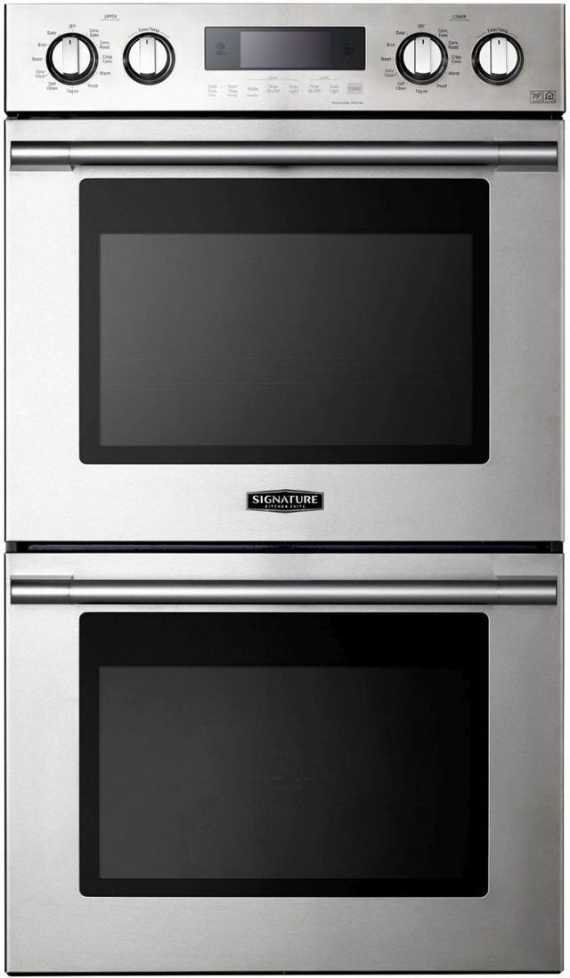 """Signature Kitchen Suite 29.75"""" Stainless Steel Electric Double Oven Built In-UPWD3034ST"""