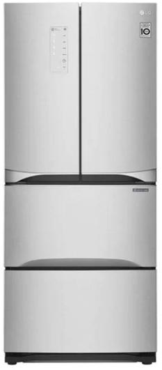 Réfrigérateur à portes françaises de 30 po LG® de 14,3 pi³ - Argent platine-LRKNS1400V