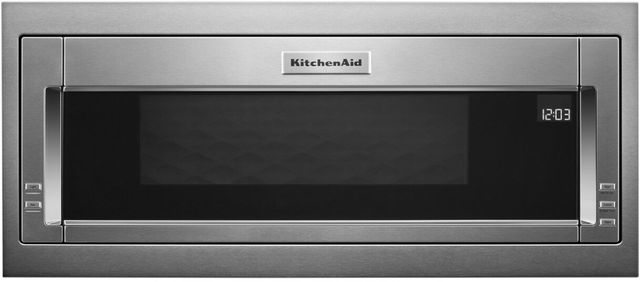 """KitchenAid® 29.75"""" Stainless Steel Built In Microwave with Trim Kit-KMBT5011KSS"""