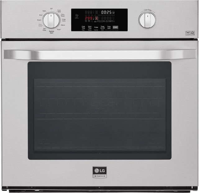 """LG Studio 29.75"""" Stainless Steel Electric Single Built In Wall Oven-LSWS307ST"""