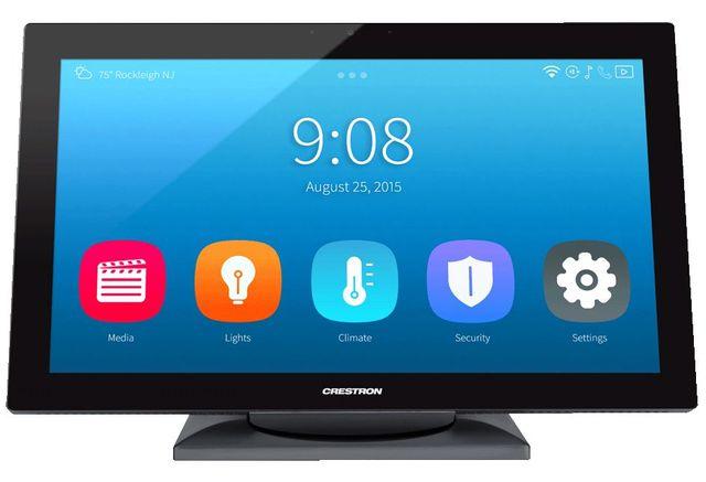 "Crestron® Signature Series 15.6"" HD Tabletop Tilt Touch Screen-Black-TS-1542-TILT-C-SSB"