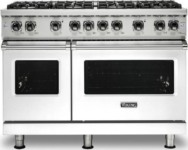 "Viking® Professional 5 Series 48"" Pro Style Dual Fuel Range-White-VDR5488BWHLP"