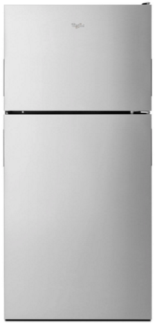 Whirlpool® 18 Cu. Ft. Top Freezer Refrigerator-Stainless Steel-WRT348FMES