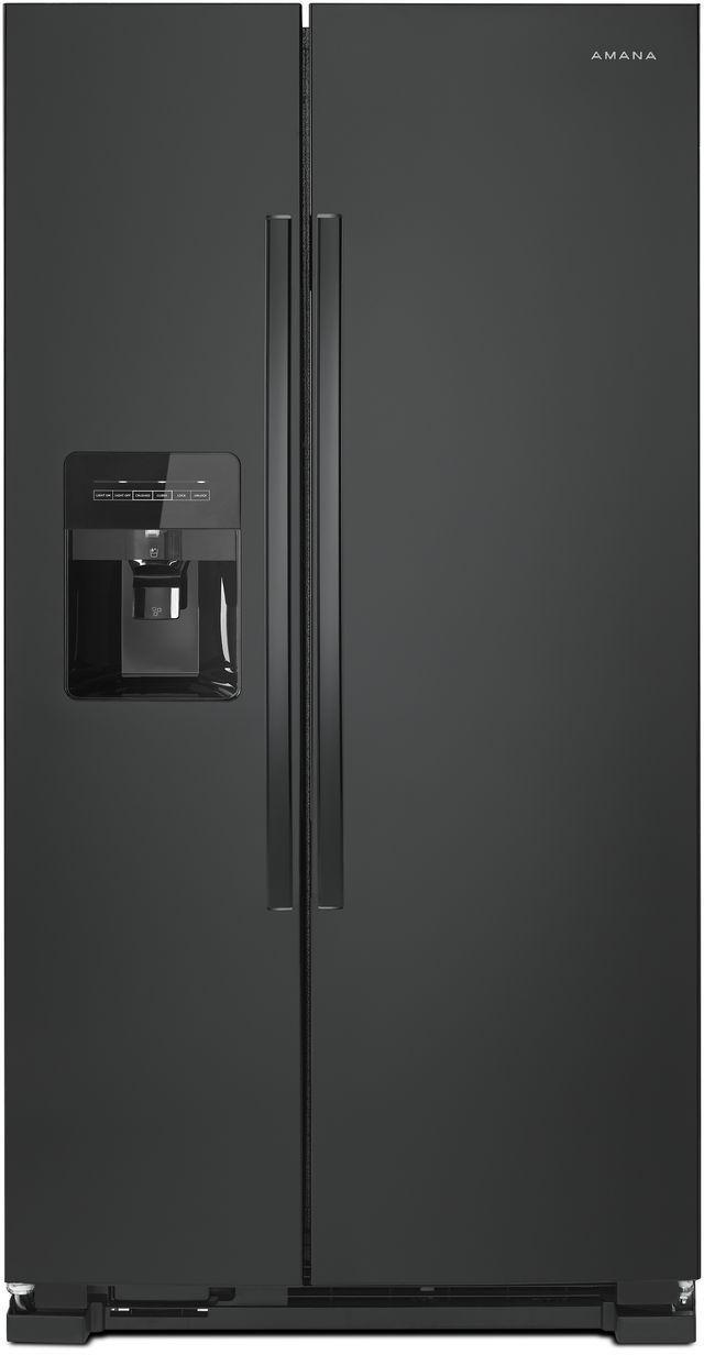 Amana® 24.57 Cu. Ft. Black Side-By-Side Refrigerator-ASI2575GRB