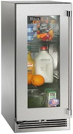 Perlick® Signature Series Outdoor Refrigerator-Stainless Steel-HP15RO-3-3L