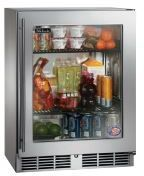 Perlick Shallow-Depth Series 3.1 Cu. Ft. Compact Refrigerator-Wood Overlay/Glass-HH24RS-4L
