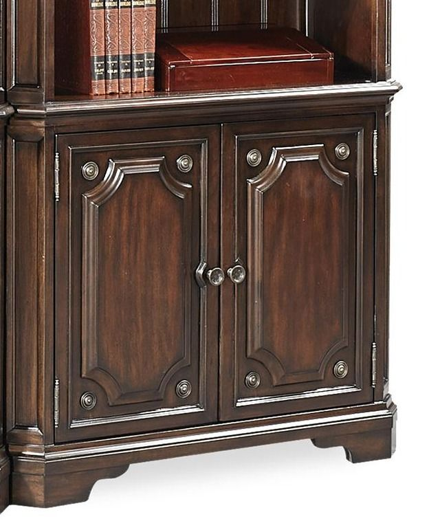 Aspenhome® Sheffield Warm Rubbed Brown Door Bookcases-I39-332