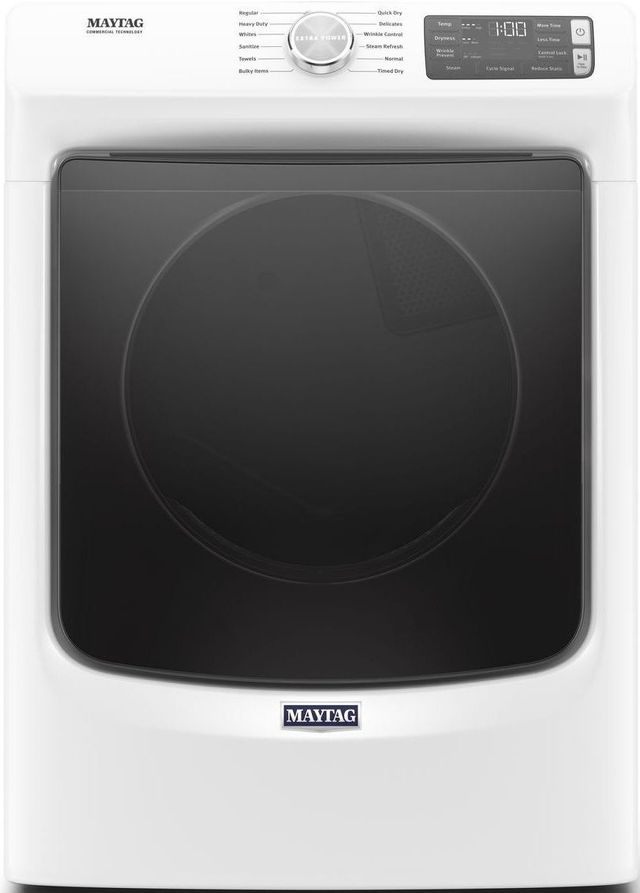 Maytag® 7.3 Cu. Ft. White Front Load Gas Dryer-MGD6630HW