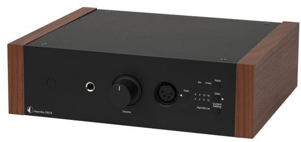 Pro-Ject DS2 Line Black Fully Balanced High End Headphone Amplifier with Rosewood Wooden Panels-Head Box DS2 B-BL-RW