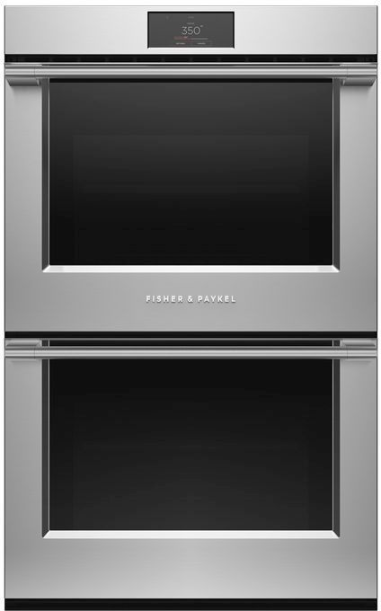 """Fisher & Paykel Series 9 49"""" Stainless Steel Electric Double Oven Built In-OB30DPPTX1"""