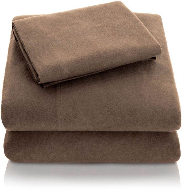 Malouf® Sleep Woven™ Portuguese Flannel Coffee Queen Sheet Set-WO20QQCOFS