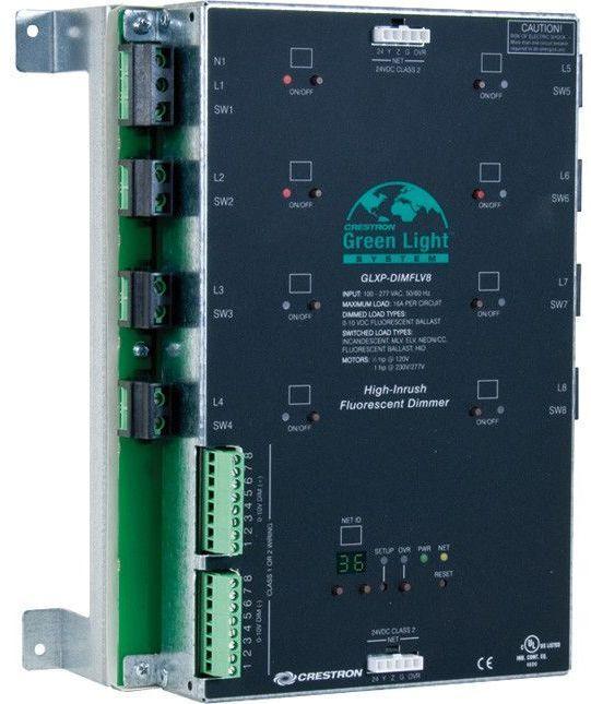 Crestron® 8 Channel 0-10V Dimmer Module-GLXP-DIMFLV8
