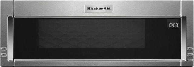 KitchenAid® 1.1 Cu. Ft. Stainless Steel Over The Range Microwave Hood Combination-KMLS311HSS