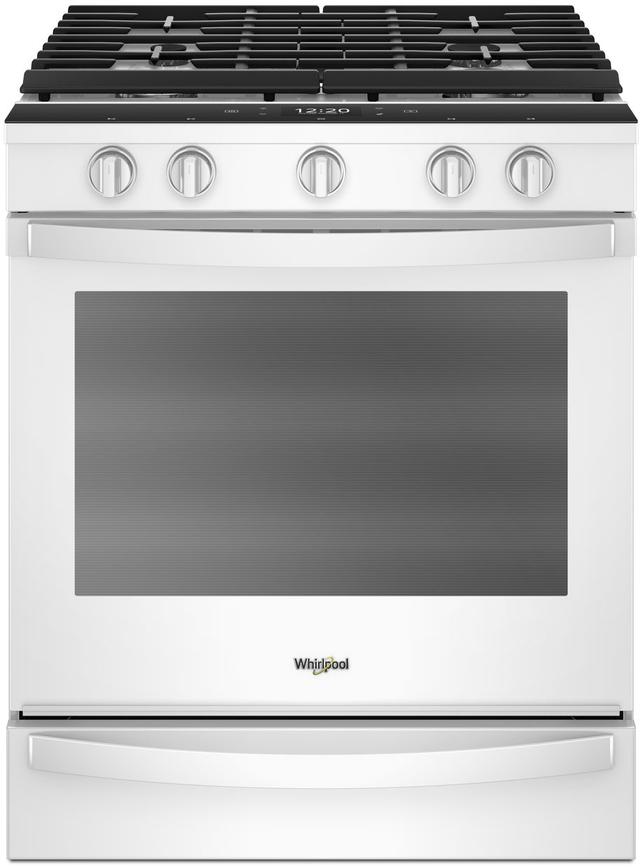 """Whirlpool® 30"""" Smart Slide-In Gas Range-White-WEG750H0HW"""