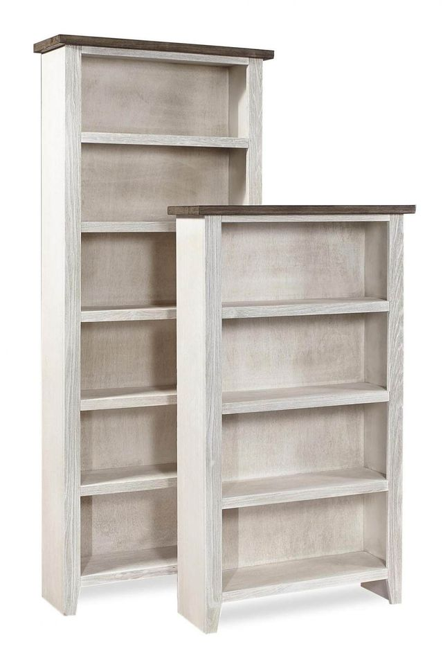 """Aspenhome® Eastport Drifted White 48"""" Bookcase with 2 fixed shelves-WME3448-DWT"""