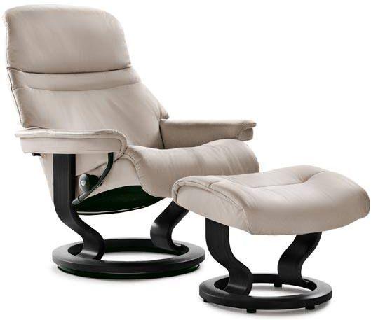 Stressless® by Ekornes® Sunrise Medium Classic Base Chair and Ottoman-1237015