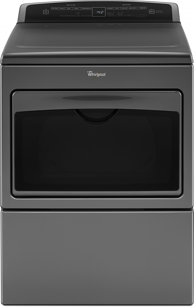 Whirlpool® Front Load Electric Dryer-Chrome Shadow-WED7500GC
