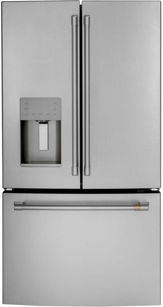 Réfrigérateur à portes françaises de 36 po Cafe™ de 25,6 pi³ - Acier inoxydable-CFE26KP2NS1