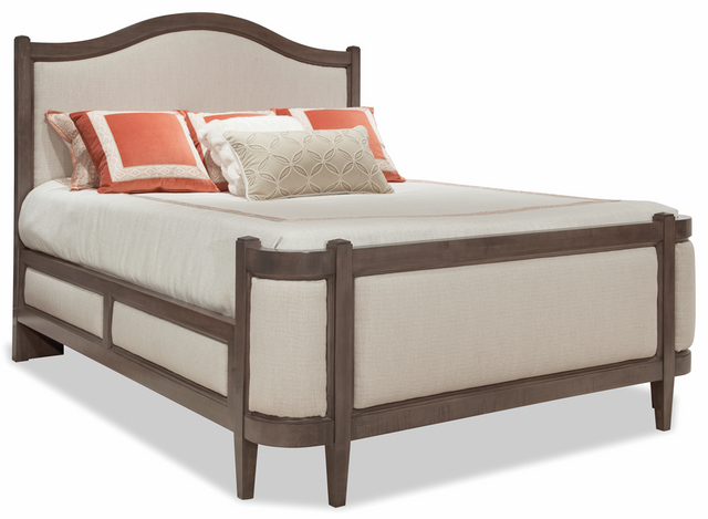 Durham Furniture Prominence Oyster Queen Grand Upholstered Bed-171-126