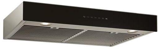 "Best® Ispira 36"" Stainless Steel Black Glass Under Cabinet Range Hood-UCB3I36SBB"