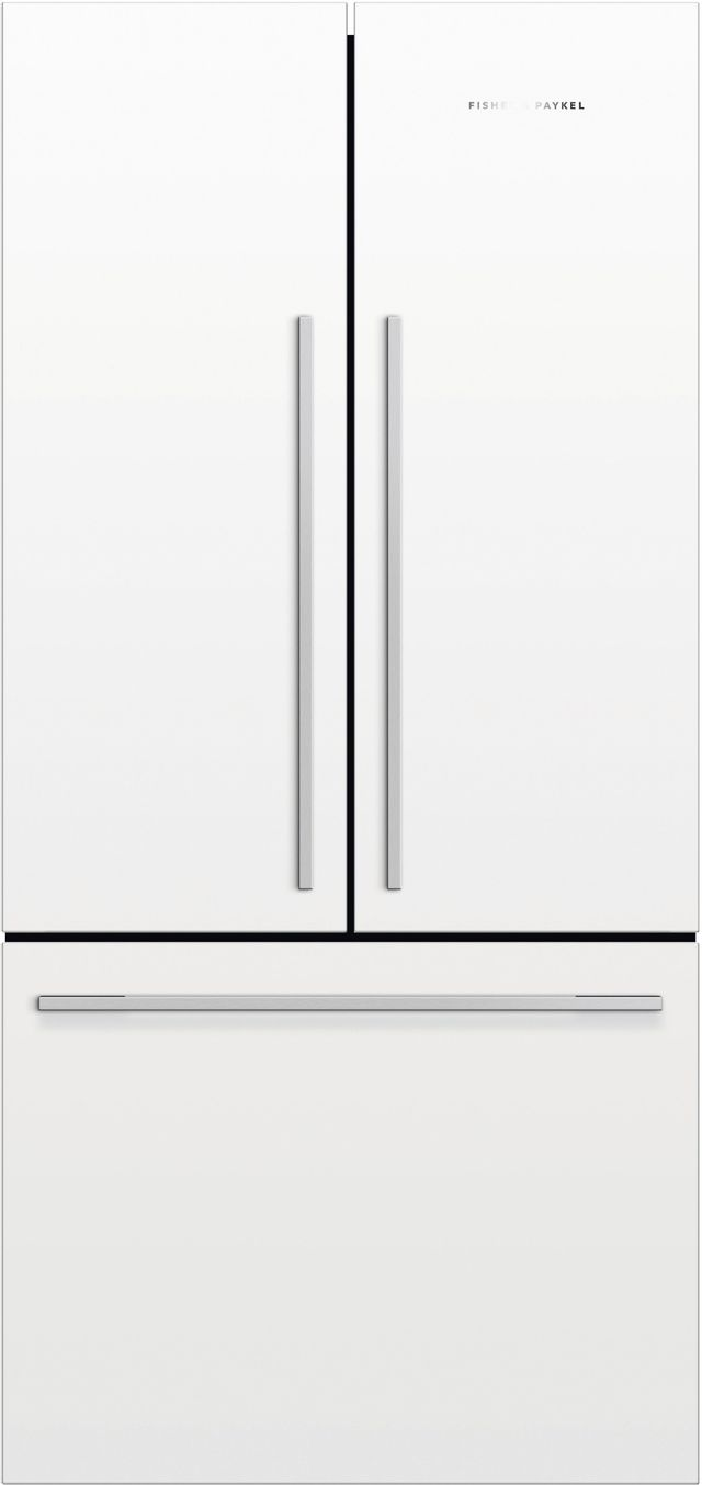 Fisher & Paykel Series 7 16.9 Cu. Ft. White French Door Refrigerator-RF170ADW5 N