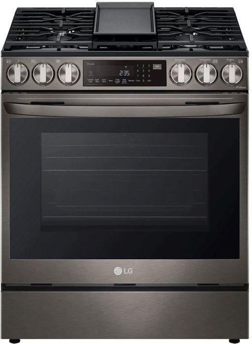 LG 6.3 Cu. Ft. PrintProof™ Black Stainless Steel Slide-In Gas Range -LSGL6335D