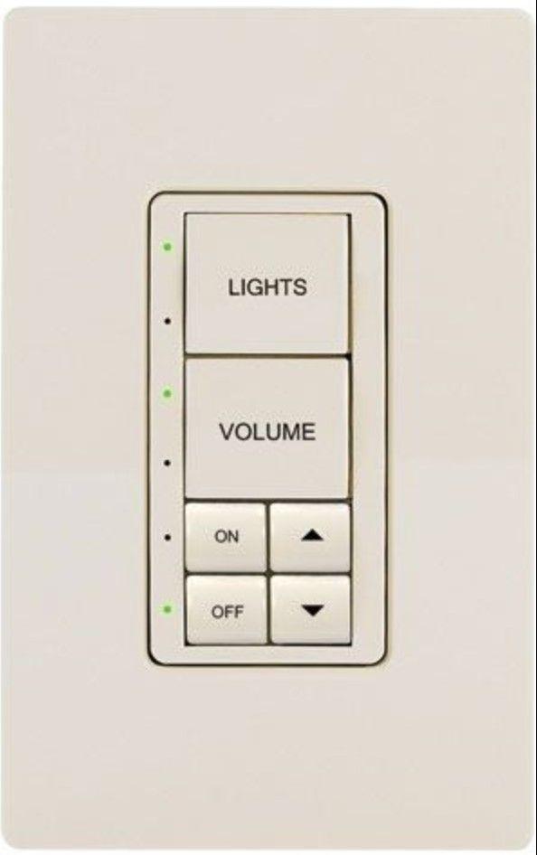 Crestron® Cameo® Express Almond Smooth infiNet EX® 120V Wireless Keypad-INET-CBDEX-E-A-S
