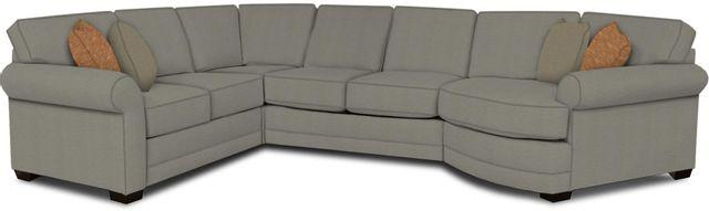England Furniture Co. Brantley 4 Piece Culpepper Cement/Alvarado Mineral/Eddie Smoke Sectional-5630-28-22-43-95+8612+8539+8601