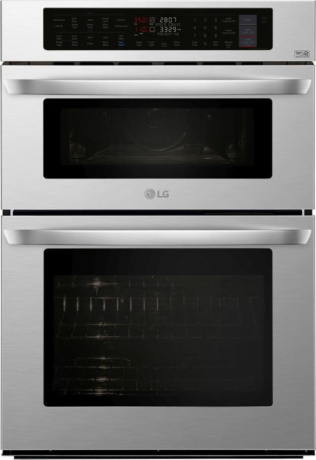 """LG 29.75"""" Stainless Steel Electric Oven/Microwave Combo Built In-LWC3063ST"""