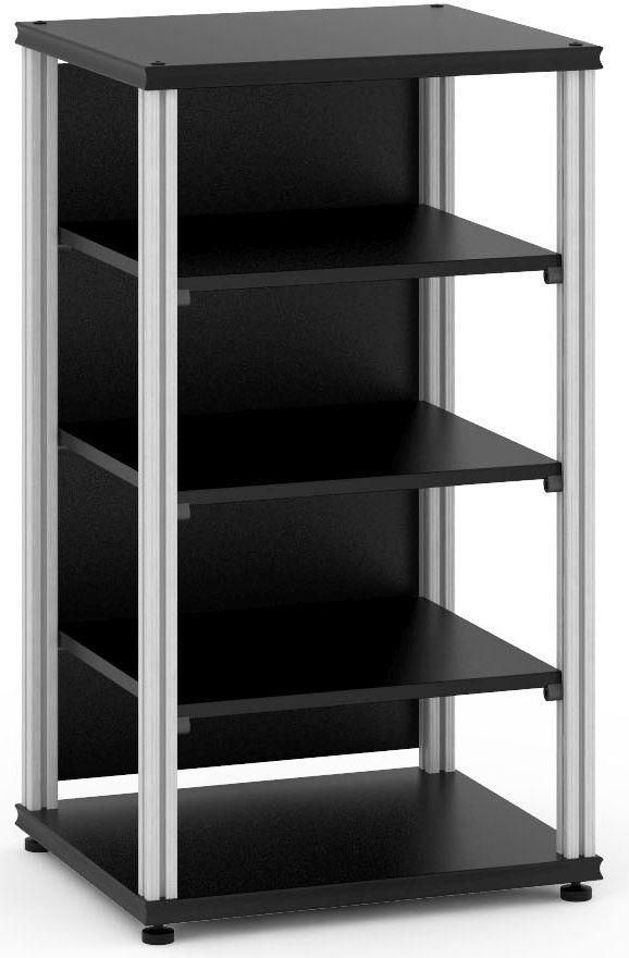 Salamander Designs® Synergy Single 40 AV Cabinet-Black/Aluminum-SU40B/A