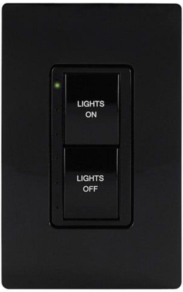 Crestron® Cameo® Express Black Smooth infiNet EX® 120V Wireless Keypad-INET-CBDEX-E-B-S