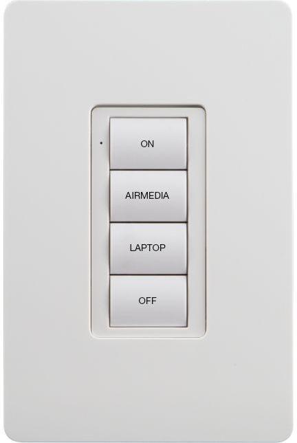 Crestron® Battery-Powered Wireless AV 4-Button Keypad-Almond-ZUMMESH-KP10AV3BATT-A-S