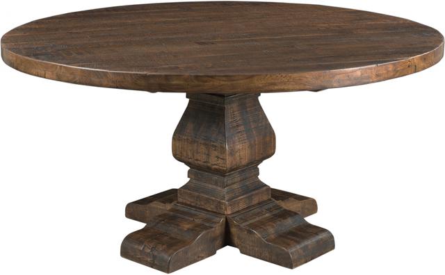 Coast to Coast Imports™ Woodbridge Distressed Finish Round Dining Table-98211