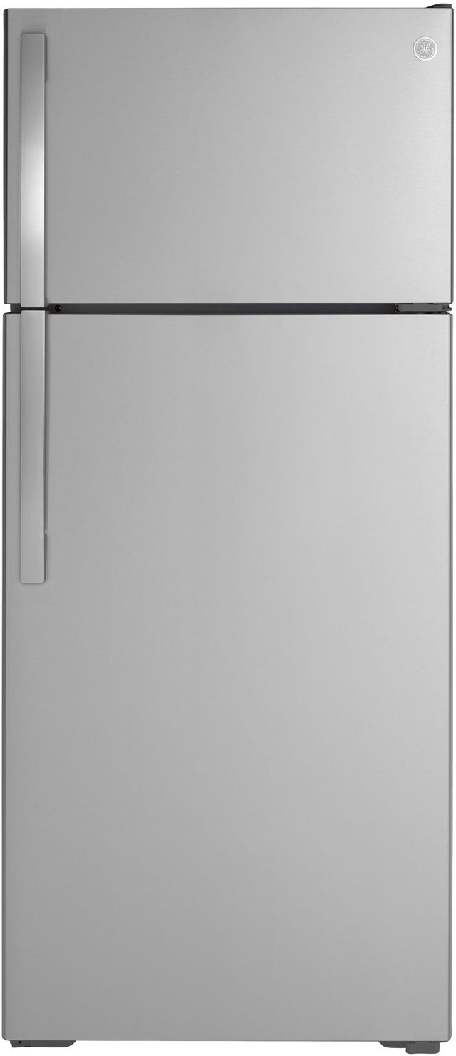 GE® 17.5 Cu. Ft. Stainless Steel Top Freezer Refrigerator-GTE18GSNRSS