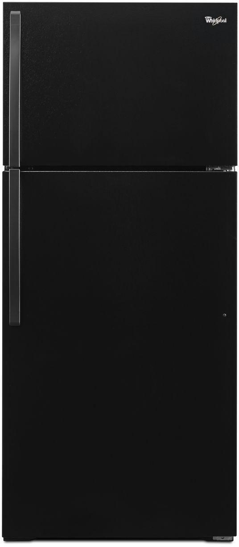 Réfrigérateur à congélateur supérieur de 28 po Whirlpool® de 14,3 pi³ - Noir-WRT134TFDB