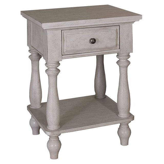 Liberty Furniture High Country Antique White Nightstand-697-BR62