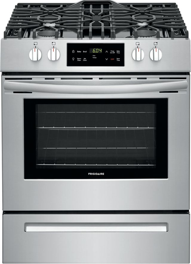 """Frigidaire® 30"""" Stainless Steel Free Standing Gas Range-FFGH3051VS"""