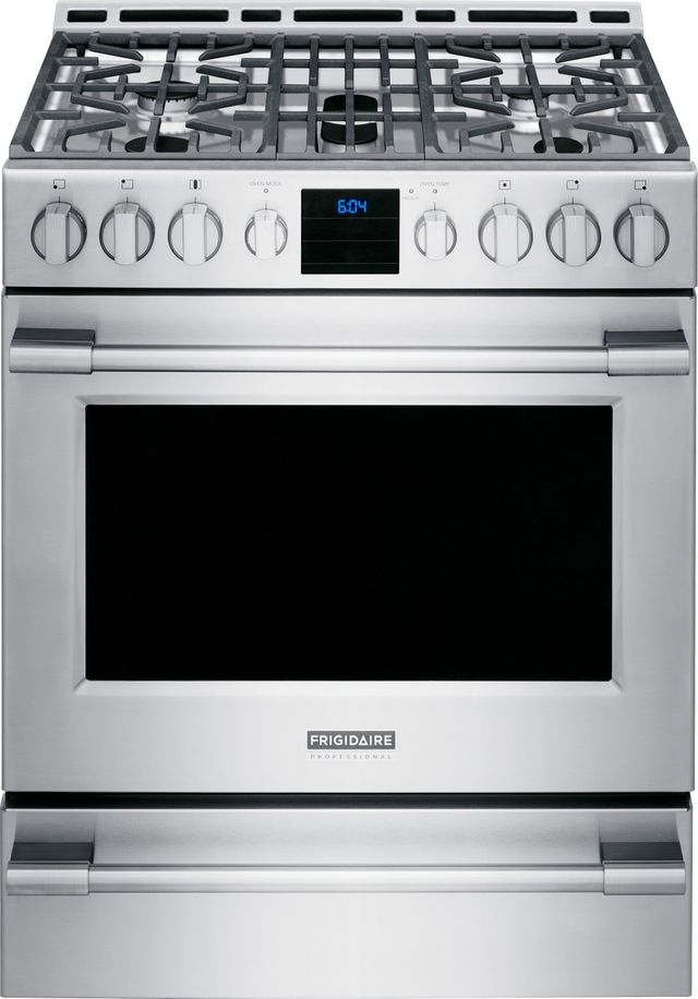 """Frigidaire Professional® 29.88"""" Stainless Steel Free Standing Gas Range-FPGH3077RF"""